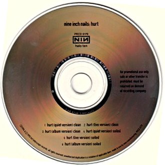 Hurt (Nine Inch Nails song) - Image: Nine Inch Nails Hurt Halo Ten CD cover