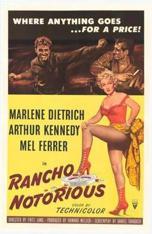 Rancho Notorious - Theatrical release poster