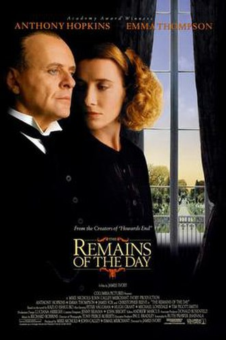 The Remains of the Day (film) - Theatrical release poster