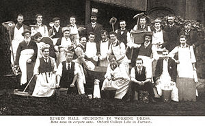 Ruskin College - Part of the 1901 class of students at Ruskin Hall, Oxford (Ruskin College).