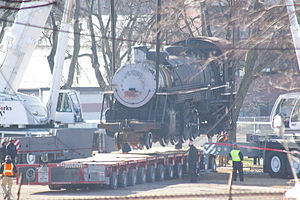 St. Louis–San Francisco 4018 - SLSF 4018 being moved from Birmingham's Fair Park on February 19, 2009