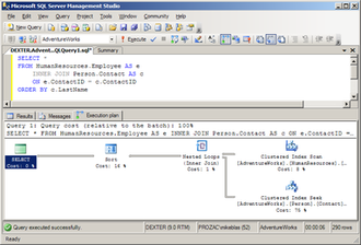 Query plan - Microsoft SQL Server Management Studio displaying a sample query plan.