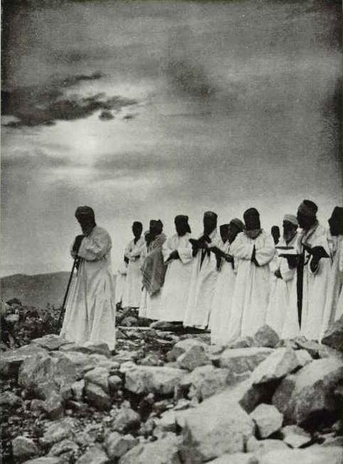 Samaritan Passover prayer 1920