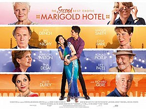The Second Best Exotic Marigold Hotel - UK release poster