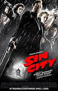 <i>Sin City</i> (film) 2005 American crime thriller film written, produced and directed by Frank Miller and Robert Rodriguez