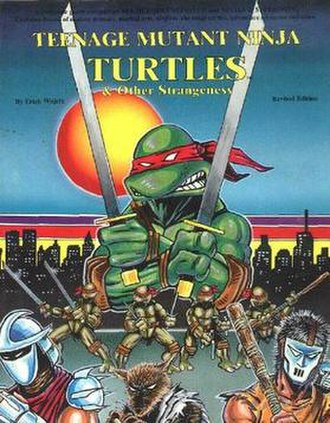 Teenage Mutant Ninja Turtles & Other Strangeness - Cover of Teenage Mutant Ninja Turtles role-playing game core rulebook