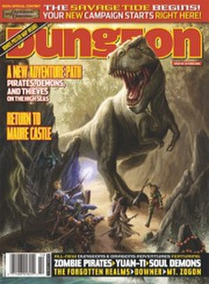 Savage Tide - The front cover of Dungeon Issue 139 (October 2006), illustrated by Dan Scott, wherein began the Savage Tide Adventure Path.