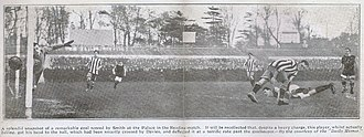 History of Crystal Palace F.C. - A headed goal scored by Edwin Smith from a Billy Davies cross against Reading F.C., c. 1914