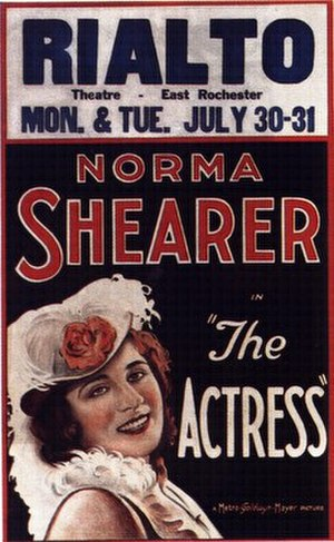 The Actress (1928 film) - 1928 lobby poster