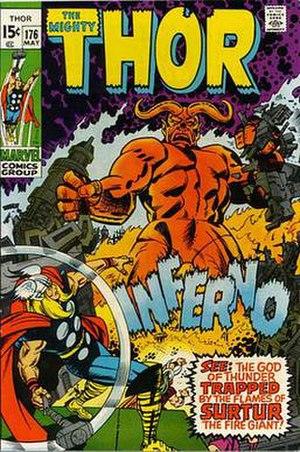 Surtur (Marvel Comics) - Image: Thorvs.Surtur