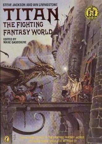 Titan (Fighting Fantasy book) - Cover of Titan: The Fighting Fantasy World (1986) Art by Christos Achilleos