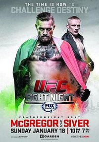 A poster or logo for UFC Fight Night: McGregor vs Siver.