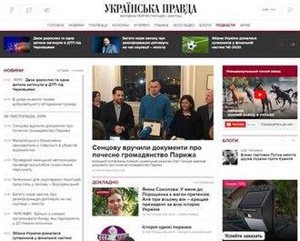 Ukrayinska Pravda - Image: Ukrayns'ka pravda printscreen 2010 06 11