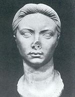 Bust of Vipsania Agrippina, Tiberius' first wife. Recovered from Leptis Magna.