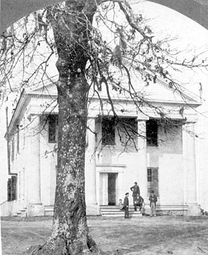 Florida State University - West Florida Seminary main building, circa 1880. Built in 1854 as the Florida Institute. This building was replaced with College Hall in 1891. The Westcott Building now stands on this site – the oldest site of higher education in Florida