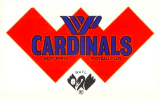 "West Perth Football Club - West Perth were known as ""the Cardinals"" from 1885 till 1975. The name came from the team being referred to as the ""blue and cardinals"" in the early days."