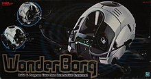 "A gray plastic beetle shown over text: ""WonderBorg; Build & Program Your Own Interactive Creature!"