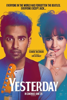 Yesterday movie poster.