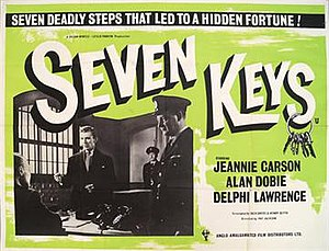 Seven Keys (film) - UK quad poster