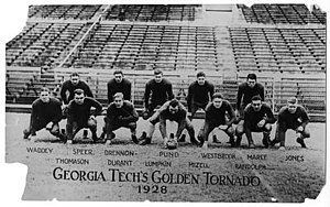 1928 Georgia Tech Golden Tornado football team - Image: 28Ga Tech