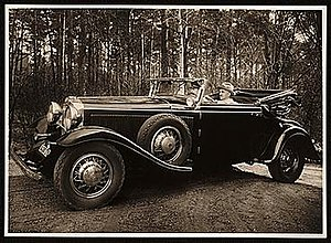 Rudolf Bauer (artist) - Rudolf Bauer in his Duesenberg Phaeton automobile, 193?, unidentified photographer. Rudolf Bauer papers, Archives of American Art