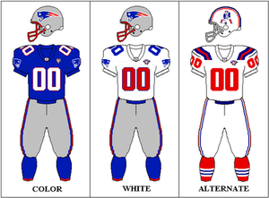 1994 New England Patriots season - Image: AFC 1994 Uniform NE