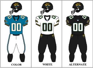 2007 Jacksonville Jaguars season - Image: AFCS 2004 2007 Uniform JAX