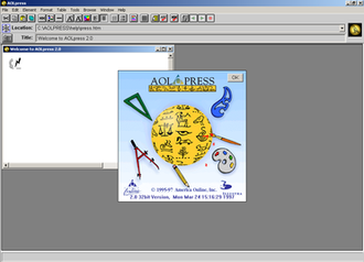 AOLpress - AOLpress on Windows 2000