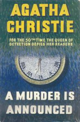 A Murder Is Announced - Dust-jacket illustration of the first UK edition