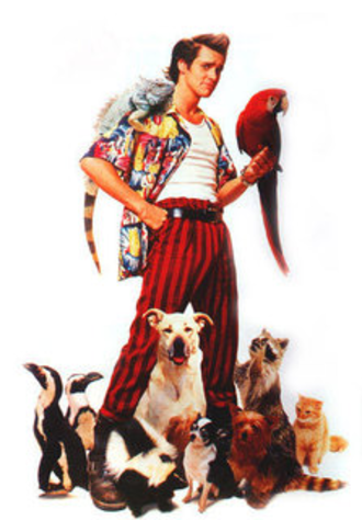 Ace Ventura - Ace with his pets