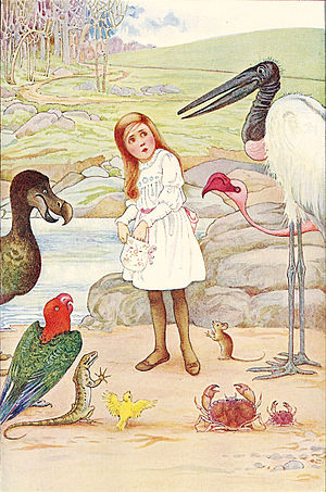Millicent Sowerby - An illustration by Sowerby for Alice's Adventures in Wonderland (1907)