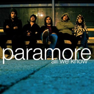 All We Know (Paramore song) - Image: All we know
