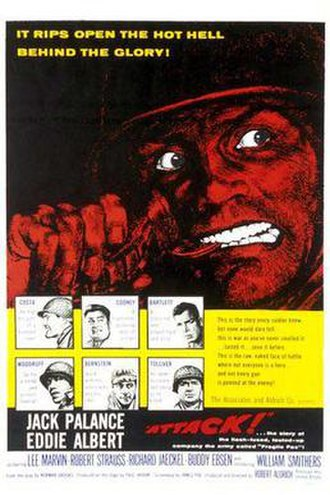 Attack (1956 film) - Theatrical release poster