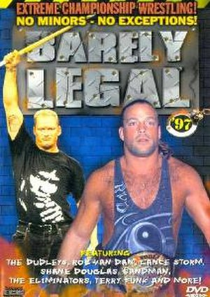 ECW Barely Legal - DVD cover featuring The Sandman and Rob Van Dam