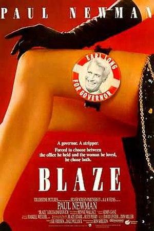 Blaze (1989 film) - Theatrical release poster