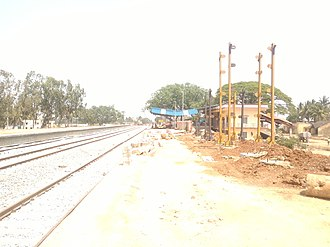 Chintamani, Karnataka - Railway Station Construction View