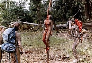 Splatter film - The 1980 mockumentary Cannibal Holocaust, an influential example of splatter cinema.