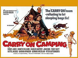 Carry On Camping - Original UK quad poster by Renato Fratini