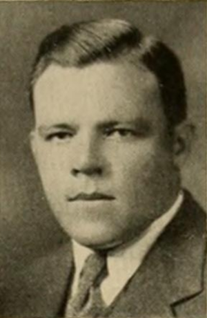Chuck Collins (American football) - Collins pictured in Yackety Yack 1931, North Carolina yearbook