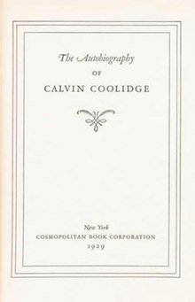 Coolidge Autobiography title page.jpg