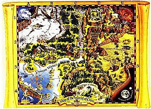Might and Magic II: Gates to Another World - Map of CRON, drawn by Jim Krogel