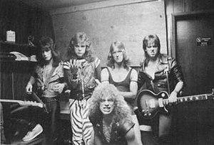Culprit (band) - (l to r) John DeVol, Jeff L'Heureux, Bud Burrill, Kjartan Kristoffersen, and Scott Earl(front)