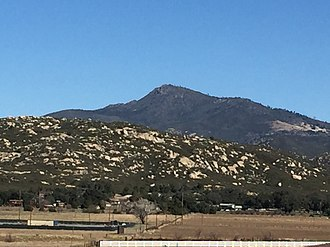 Cuyamaca Peak - Cuyamaca Peak from the South