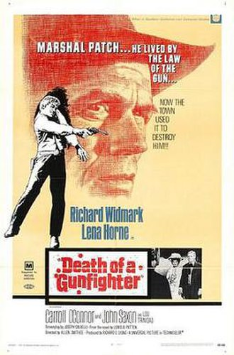 Death of a Gunfighter - Theatrical release poster