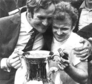 Don Revie - Revie (left) with Billy Bremner after winning the 1972 FA Cup Final