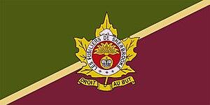 Les Fusiliers de Sherbrooke - The camp flag of Les Fusiliers de Sherbrooke.