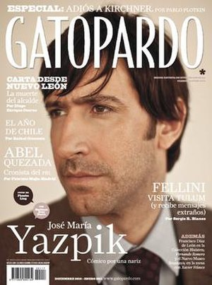 Gatopardo (magazine) - Front cover of issue 117 of Gatopardo featuring Mexican actor José María Yazpik.