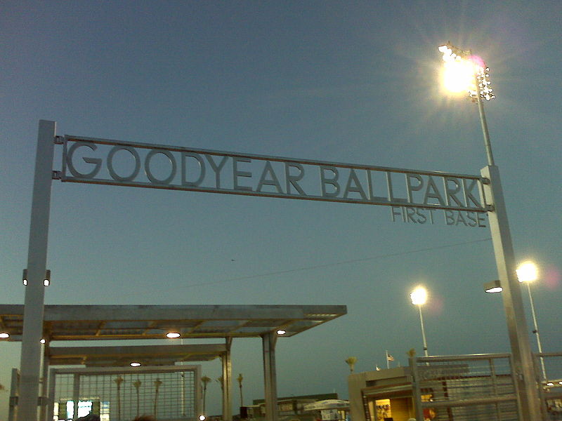 File:Goodyear Ballpark 1st Base Entrance.jpg