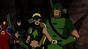 Green Arrow in other media - Green Arrow and Artemis in Young Justice.