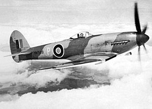 "Hawker Tempest - Tempest I prototype HM599; when first flown, it had the ""car-door"" canopy and small tail unit. Shown here with bubble canopy"